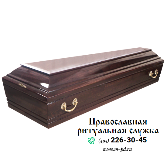 """Гроб лакированный,  """"Гранд"""", 4-гранный"""