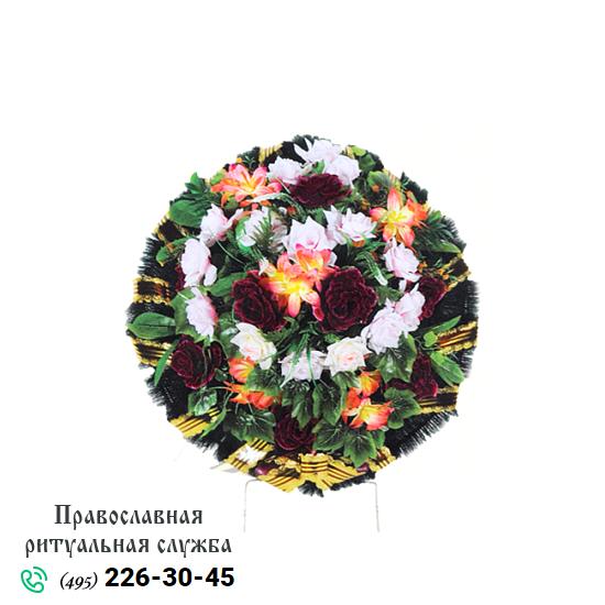 Траурная корзина из искусственных цветов №3