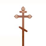 Крест на могилу дуб, фигурный