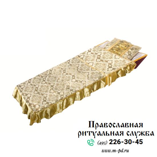 """Комплект в гроб """"Купеческий"""", вышивка золотом"""
