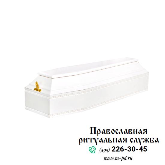 Гроб детский, 6-ти гранный, белый
