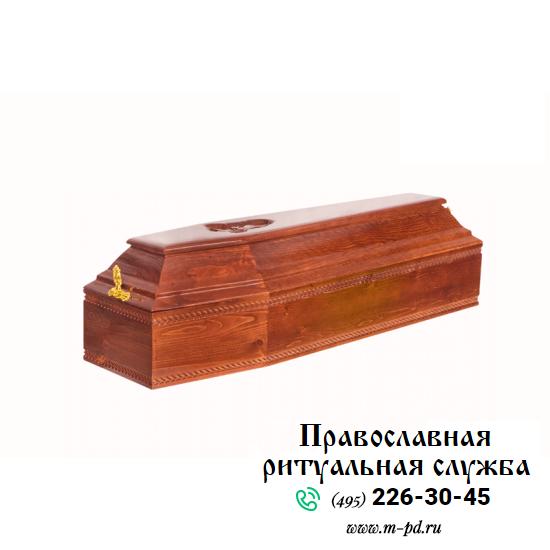 Гроб детский, 6-ти гранный, резной